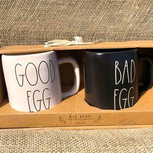 🆕Rae Dunn Good Egg & Bad Egg mug set